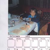 Rakonczay átvitte az Atlanti Óceánon az Amerikai nagynénitől kapott egyedi naptárat.